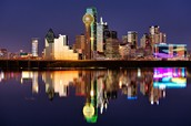 The nightview in Dallas