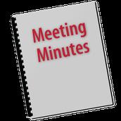 Upcoming Meetings: