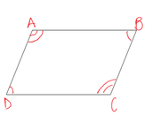 Opposite angles equal each other