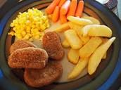 pollo con papas fritas- mil doscientos centavos (1200)