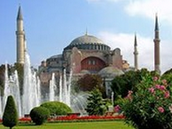 The Mosque of Saint Sophia at Constantinople (now Istanbul)