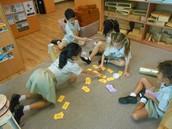 Prep 2CNe practising their Magic 100 words through games