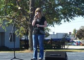 Ms. Palmer Entertains at Cabotfest!