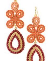 Capri chanderelier earrings 49.00 sale 20.00