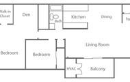 Two Bedroom One Bath W/ Den