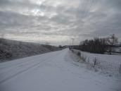 The Iowa snow