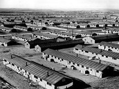 The internment camps viewed from the top