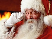 One of the adults dresses up as santa.
