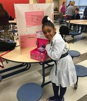 "Ra'Miya Matthews with her ""The Little Pink Closet"""