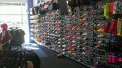 Wide selection of cleats