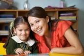 student with a teacher