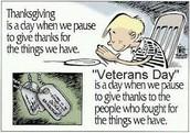 Thx for hosting all the Veterans Day programs!