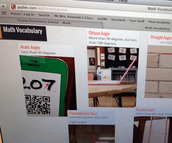 Math Vocabulary Wall with Padlet