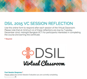 VC Session Reflection Form