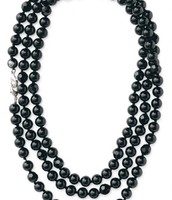 Black La Coco Faceted Beads!