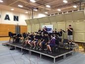 Jazz band warming up!