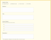 Quiz Builder - adding questions