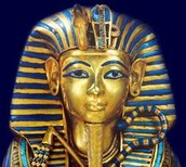 King Tut's mask when he died