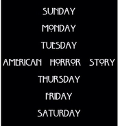 I'm a lover of american horror story