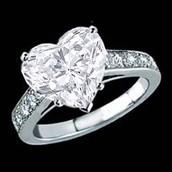 clean diamond ring
