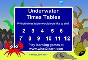 Подводна таблица - игра