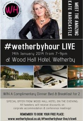Join us for #wetherbyhour LIVE 14th January at Wood Hall Hotel