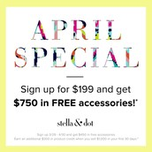 April Promotion for becoming a stylist with Stella & Dot