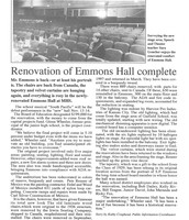 Sara (Goucher) Given showcasing Emmons Hall Rennovations