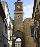 The fortified gateway in town