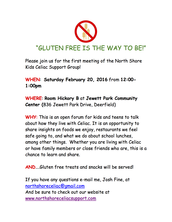 1st/FINAL Posting - North Shore Kids Celiac Support