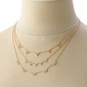 PAVE CHEVRON NECKLACE - GOLD $35  (55% off)