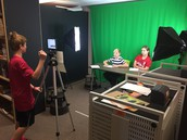 Think Tank students practicing a commercial for their advertising unit