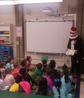 The Cat and the Hat reading to us!