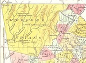 Cherokee Nation Map 1830