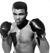 Muhammad Ali was a famous boxer.