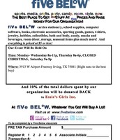 Five Below Flyer English