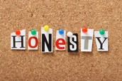 Character Trait for the Month:  Honesty
