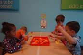 Button Stringing Fine Motor Color Activity