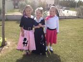 Poodle skirt girls!