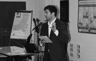 Jonathan Gwillim pitching his digital health idea