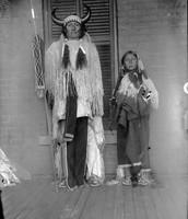 Ongotoya (Solitary Traveler) and son - Kiowa - 1892