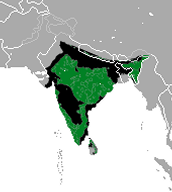 Sloth bear map