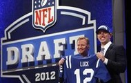 Andrew Luck on draft day