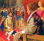 Walter Bowing For Queen Elizabeth I