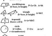 formulas for area
