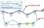 compare historical path with live path