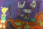 Wild Things Landscapes by First Grade