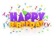 Happy Birthday to: