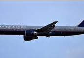 A United Airlines 757 similar to the plane that crashed after being hijacked on 9/11