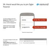 Join REMIND for Sigler Parents